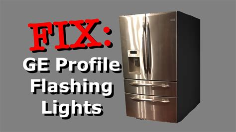 ge refrigerator  making ice green light blinking shelly lighting