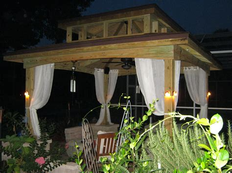 outdoor gazebo lighting ideas homesfeed
