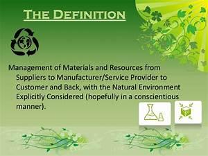 Green supply chain management