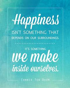 free quote printable of Corrie Ten Boom quote about happiness