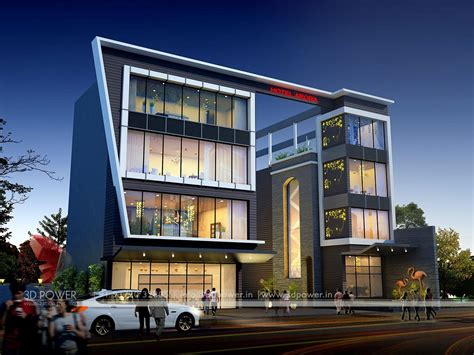 home interiors in chennai corporate building design 3d rendering exclusive view