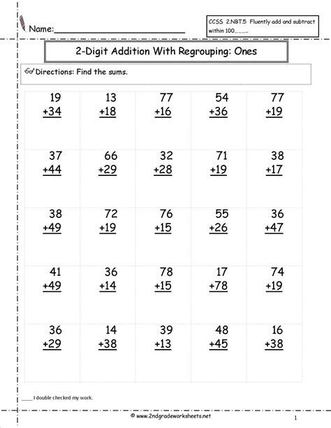 two digit addiion with regrouping ones to tens place