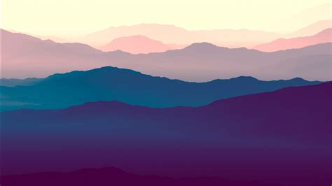 purple mountains minimal  wallpapers hd wallpapers