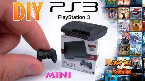 Diy Miniature Sony Playstation 3 Dollhouse No Polymer