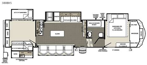 2013 Fifth Wheel Bunkhouse Floor Plans by 2013 Columbus 385 Bunk House Five Slide Fifth Wheel At