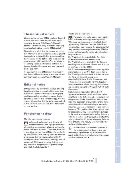 electronic throttle control 2011 bmw x5 user handbook 2011 bmw x5m x6m e70 e71 e72 owners manual