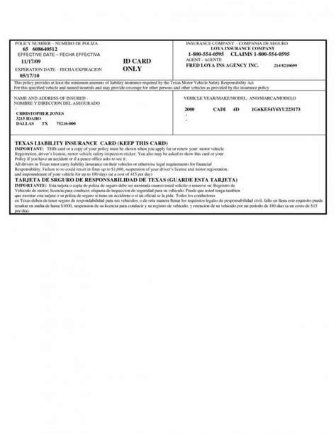 auto insurance card template shatterlioninfo