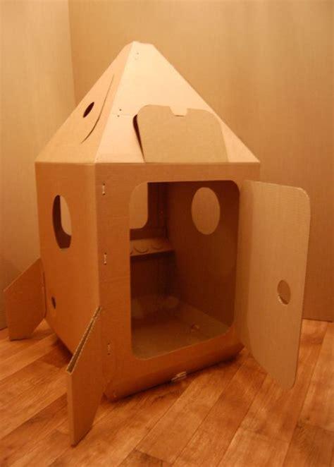 cardboard rocket   moon  homemade toys