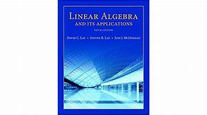 Linear Algebra And Its Applications 5th Edition Pdf