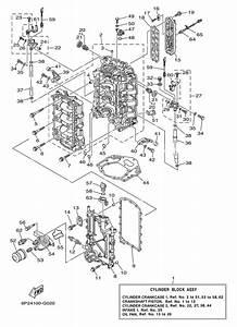 2006  U0026 Later Yamaha Cylinder Crankcase 1 Parts For 250 Hp