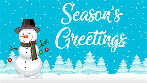 season  snowman card   vectors