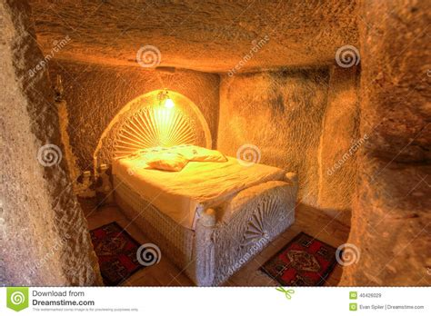 cave bedroom stock image image  hotel interior cave