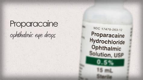 proparacaine anesthetic eye drops
