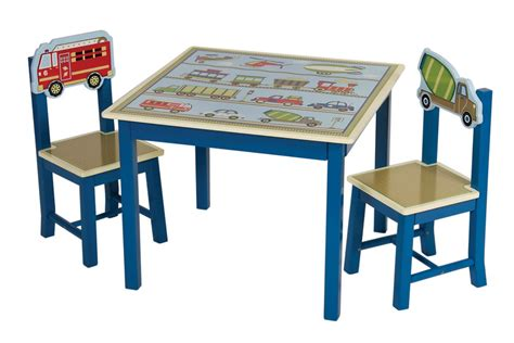2 chair table set transportation themed moving all around kids table 2