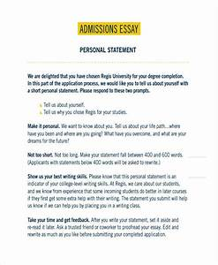 personal essay college application sample format