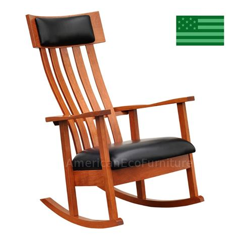 amish gavin rocking chair solid wood made in america