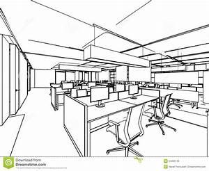 Outline Sketch Of A Interior Stock Illustration