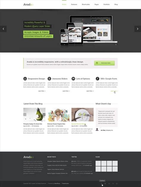 Avada Theme How To Custom Templates From 4 To 5 by 10 Best Business Themes