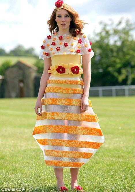 Versa-cheese The collection of dresses made of melted cheddar | Daily Mail Online