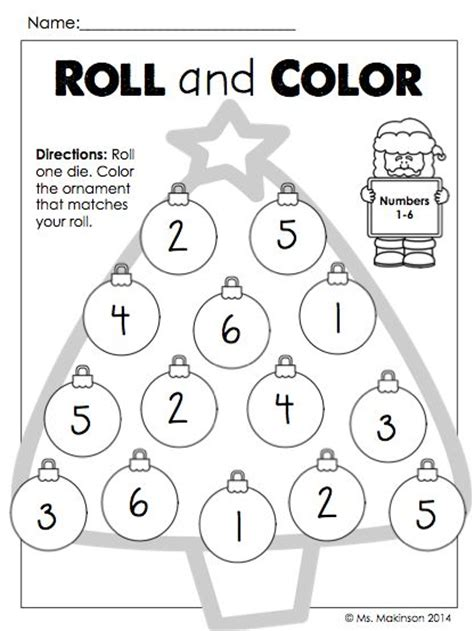 roll and color worksheets the world s catalog of ideas