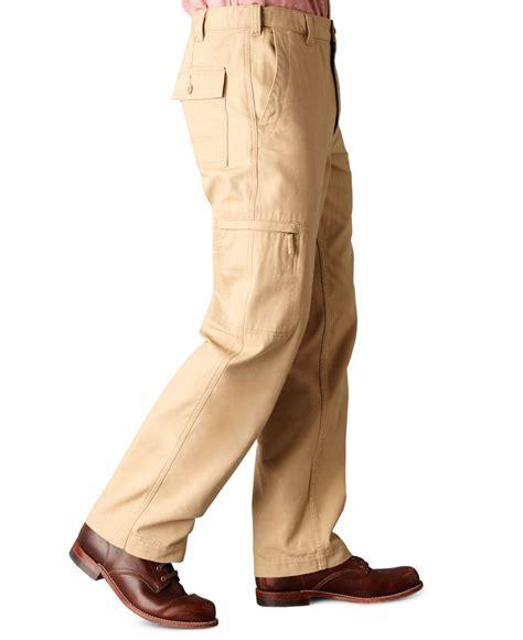 dockers comfort cargo classic fit flat front khaki pants