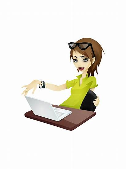 Clipart Clip Studying Secretary Library Reading Ms