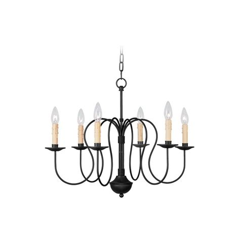 livex lighting 4478 04 black heritage 6 light 1 tier