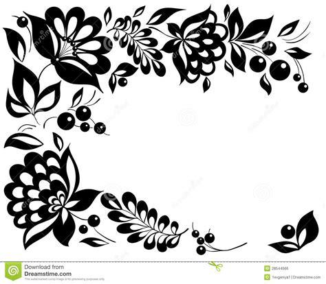 zwart witte bloemen en bladeren bloemen ontwerpelement in retro stijl vector illustratie