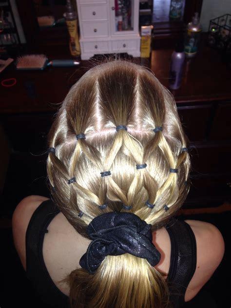 gymnastics hairstyle hairstyles pinterest figure