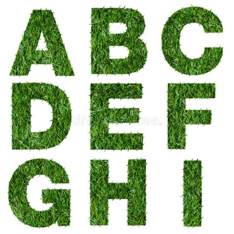 and numbers letter a made of grass stock letters a b c d e f g h i made of green grass stock image