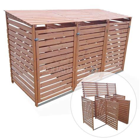 outdoor wooden wheelie bin store cupboard shed for