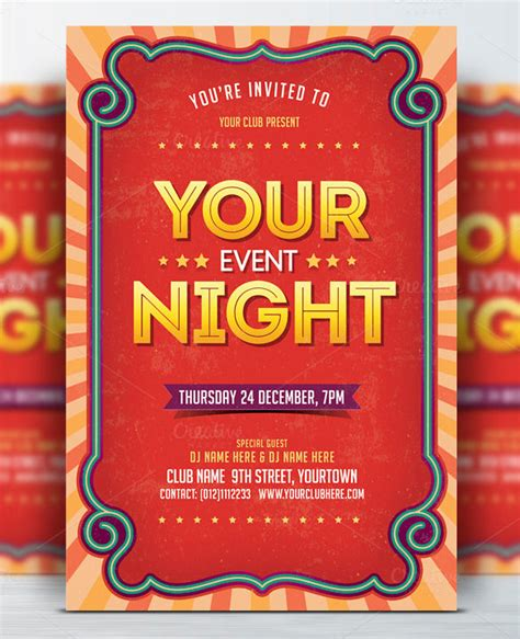 event flyer templates free 40 event flyer templates psd ai free premium templates