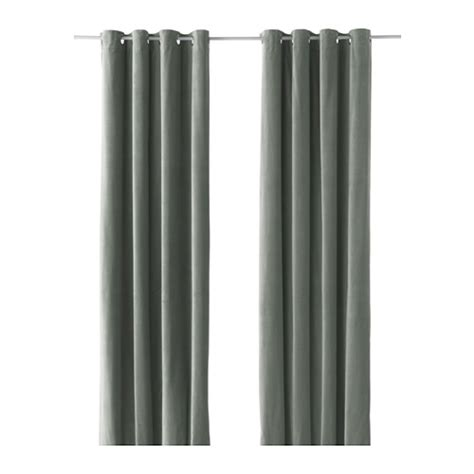 ikea sanela curtains grey sanela curtains 1 pair grey green 140x300 cm ikea