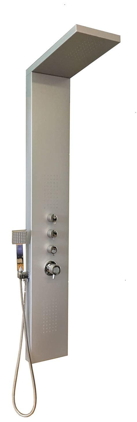 colonna doccia attrezzata colonna doccia parete attrezzata multifunzione alluminio