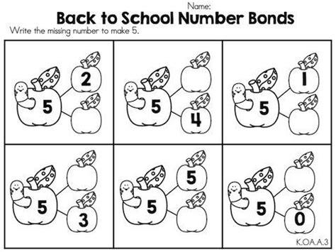 image result for number bonds to 5 worksheet math