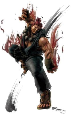 Fighter With Anime And Style Isolated On Black Background Akuma Fighter