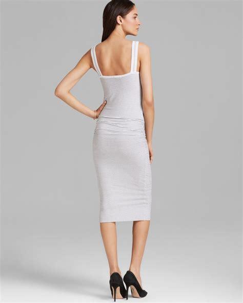 lyst james perse tank dress skinny stripe  white