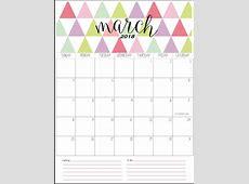 March 2018 Calendar Calendar 2018
