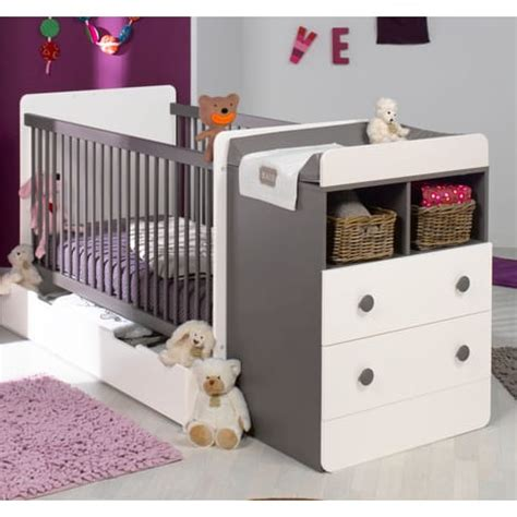 prix chambre bébé lit bébé combiné 70x140cm évolutif 90x190cm pas cher