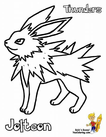 Pokemon Coloring Pages Jolteon Printable Eevee Colouring
