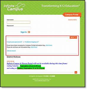 First Time Account Creation - Absarokee Infinite Campus