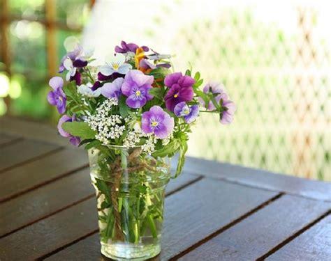 vaso con fiori violetta selvatica la primavera arriva nei prati e sulle