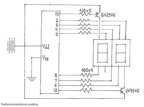 Arduino Digit Segment Display Circuit Wiring