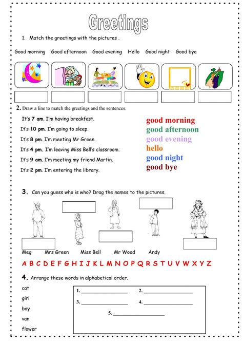 greetings interactive and downloadable worksheet you can