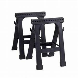 Husky 23 in. Folding Sawhorse (2-Pack)-226863 - The Home Depot