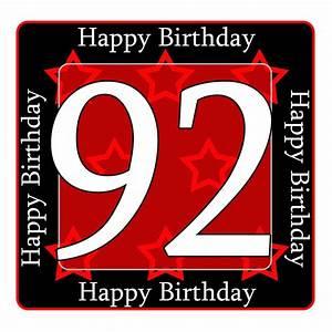 92 happy birthday party supplies - 92nd birthday coaster
