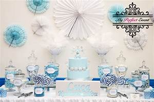 Blue and White Lolly Buffet - My Perfect Event