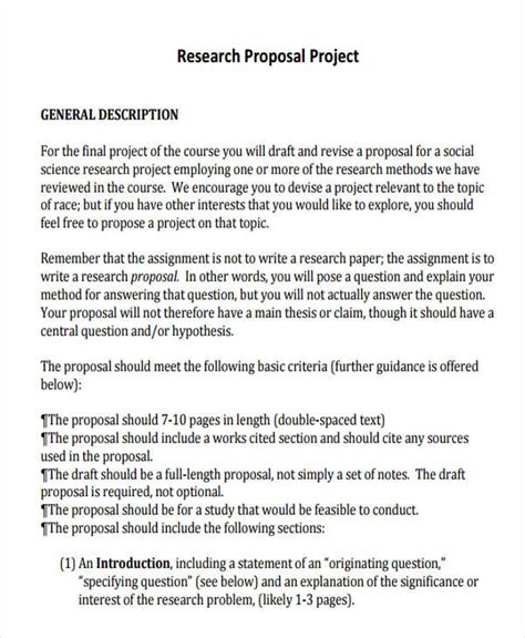 project proposal templates word