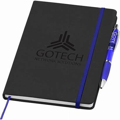 Debossed Notebook Noir Pen A5 Note Curvy