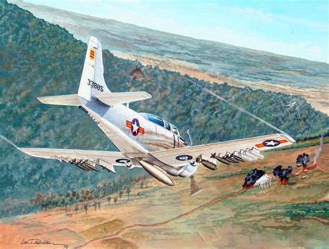 Vnaf (south Vietnamese Air Force) A1 Straffing Run Image